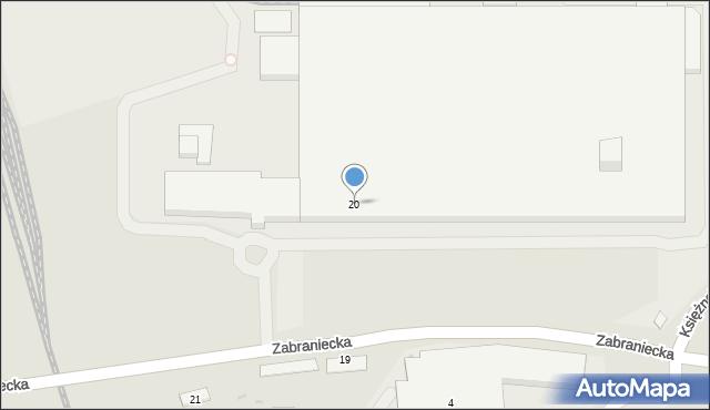 Warszawa, Zabraniecka, 20, mapa Warszawy