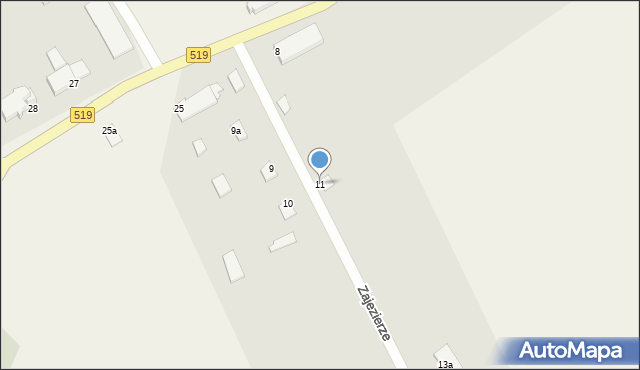 Zajezierze, Zajezierze, 11, mapa Zajezierze