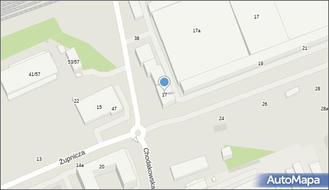 Warszawa, Żupnicza, 17, mapa Warszawy
