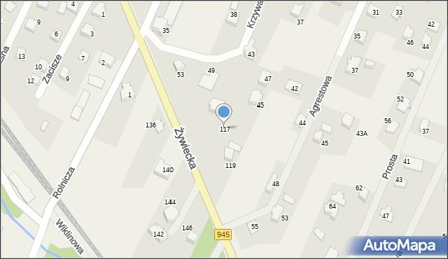 Wilkowice, Żywiecka, 117, mapa Wilkowice