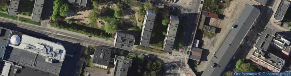 Zdjęcie satelitarne Braniborska ul.
