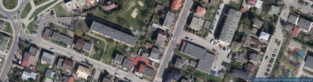 Zdjęcie satelitarne Obrońców Płocka 1920 r. ul.