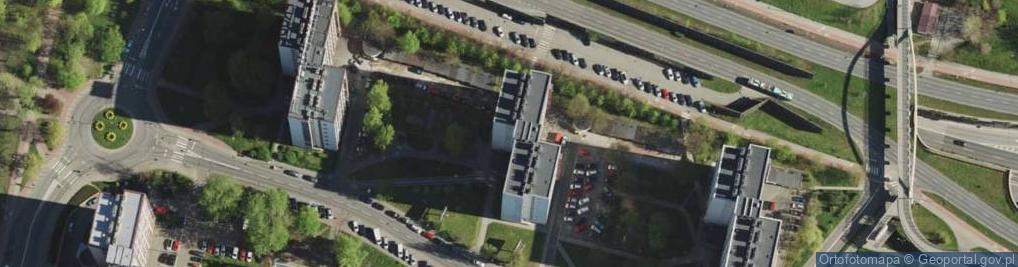 Zdjęcie satelitarne Uniwersytecka ul.