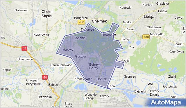 gmina Chełmek - powiat oświęcimski na mapie Targeo