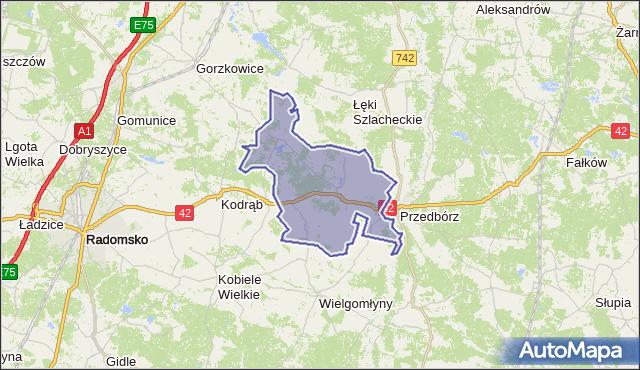 gmina Masłowice - powiat radomszczański na mapie Targeo