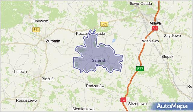 gmina Szreńsk - powiat mławski na mapie Targeo