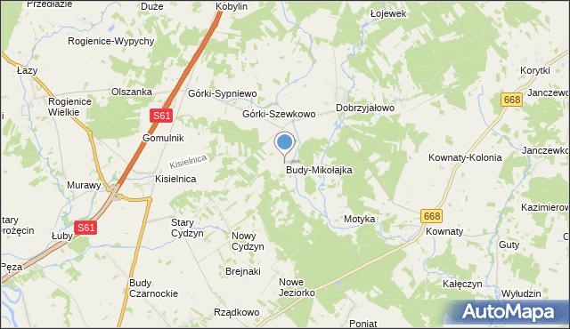 mapa Budy-Mikołajka, Budy-Mikołajka na mapie Targeo
