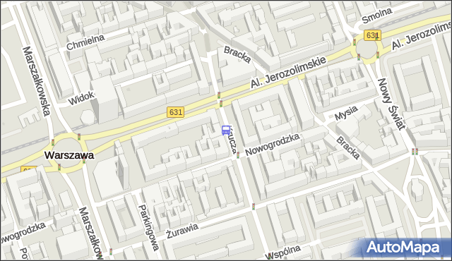Przystanek KRUCZA 03. ZTM Warszawa - Warszawa na mapie Targeo