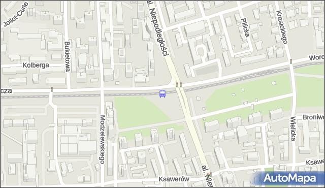 Przystanek METRO WIERZBNO 03. ZTM Warszawa - Warszawa na mapie Targeo