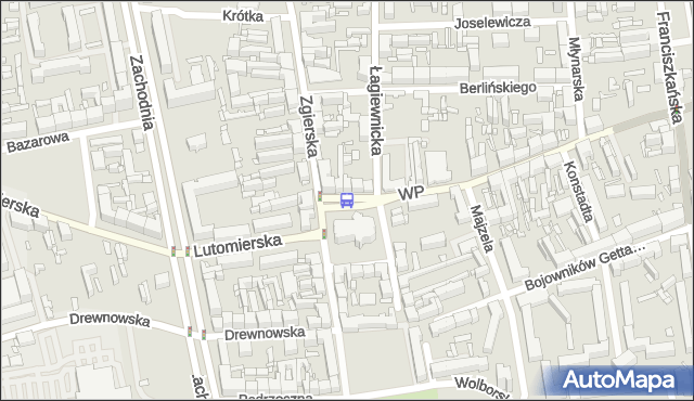 Przystanek pl. Kościelny. MPKLodz - Łódź na mapie Targeo