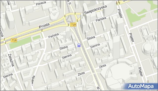 Przystanek RONDO ONZ 01. ZTM Warszawa - Warszawa na mapie Targeo