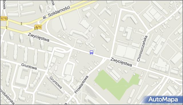 Przystanek Zwycięstwa/Prowiantowa. BKM - Białystok (google) na mapie Targeo