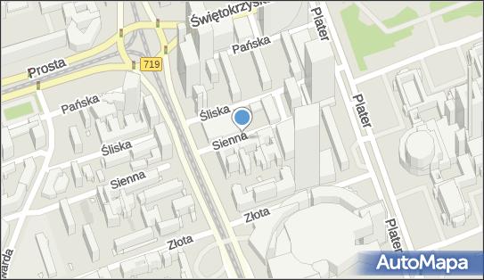 Ulica Sienna, ul. Sienna, Warszawa - Atrakcja turystyczna