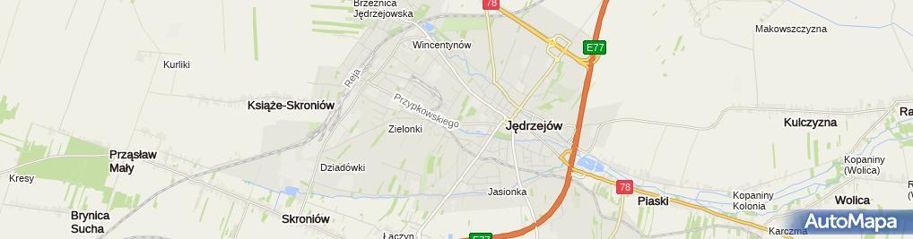 Zdjęcie satelitarne Bank Spółdzielczy w Jędrzejowie