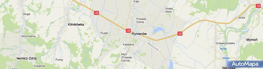 Zdjęcie satelitarne Bank Spółdzielczy w Rymanowie
