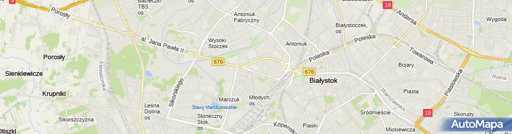 Zdjęcie satelitarne Międzyszkolny Ośrodek Sportowy