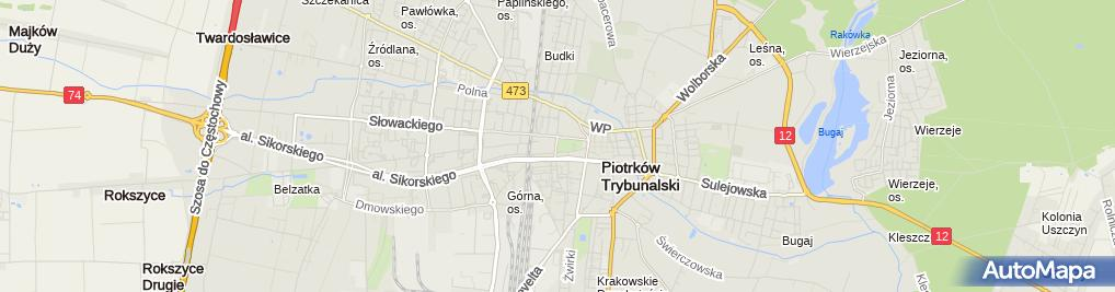 Zdjęcie satelitarne Biuro Paszportowe