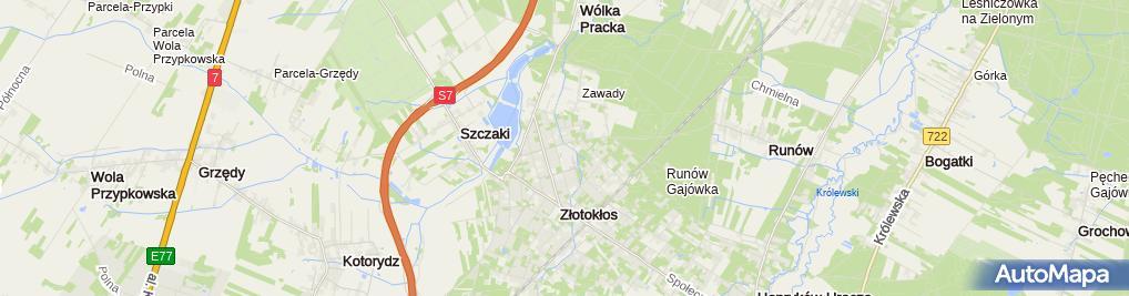 Zdjęcie satelitarne LKS Perła Złotokłos