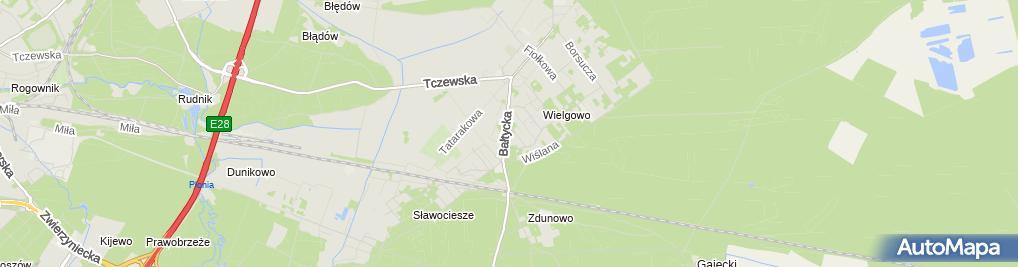 Zdjęcie satelitarne Ferkat Janina Kwaśniak Marian Kwaśniak