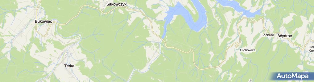 Zdjęcie satelitarne Centrum Wolontariatu Caritas w Rajskiem