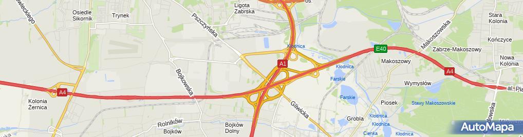 Zdjęcie satelitarne Castorama Gliwice