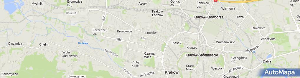 Zdjęcie satelitarne Buczek