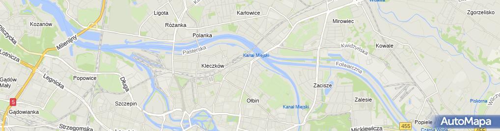 Zdjęcie satelitarne Arident Centrum Stomatologii Estetycznej NZOZ Janina i Sebastian
