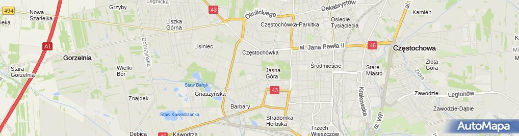 Zdjęcie satelitarne Dom Pielgrzyma