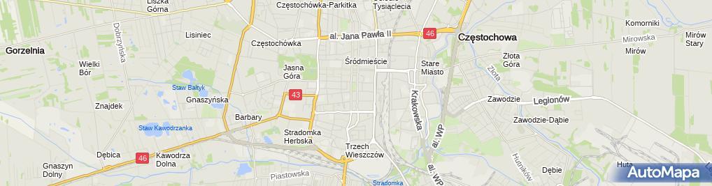 Zdjęcie satelitarne Ewangelicko-Augsburski