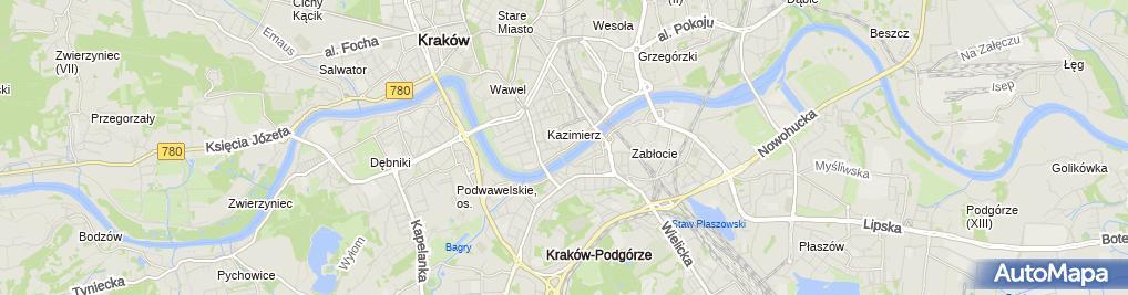 Zdjęcie satelitarne Zakład Gazowniczy w Krakowie