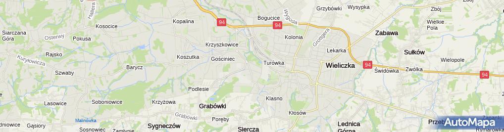 Zdjęcie satelitarne Solne Miasto