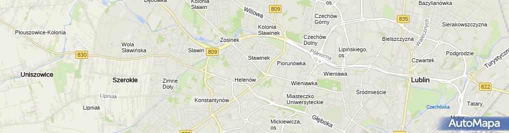 Zdjęcie satelitarne Na Rogatce ***