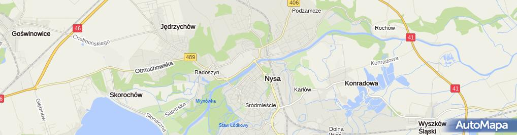 Zdjęcie satelitarne ING Bank Śląski