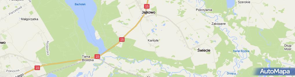 Zdjęcie satelitarne Kantyła