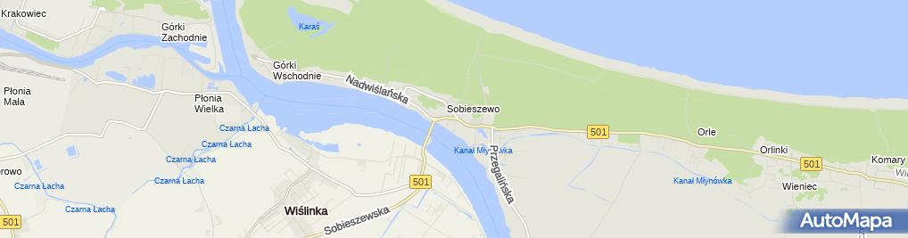 Zdjęcie satelitarne Sobieszewo (Gdańsk)