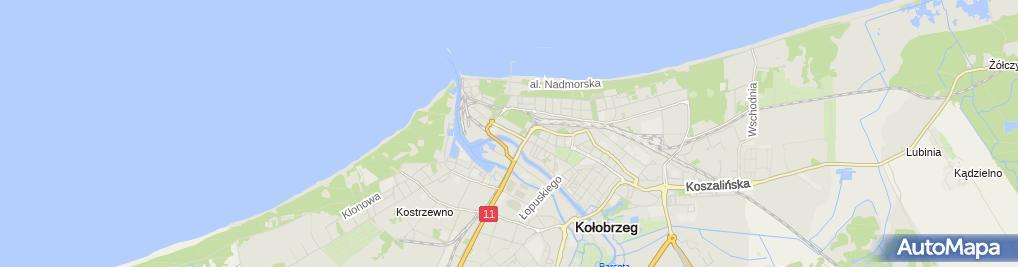 Zdjęcie satelitarne Pensjonat Pod Kasztanami