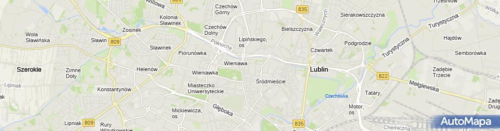 Zdjęcie satelitarne Powiatowe Centrum Pomocy Rodzinie