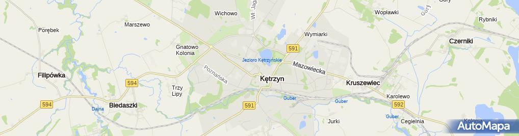 Zdjęcie satelitarne Piwkowska