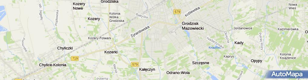 Zdjęcie satelitarne Zakład Gospodarki Komunalnej w Grodzisk Mazowieckim