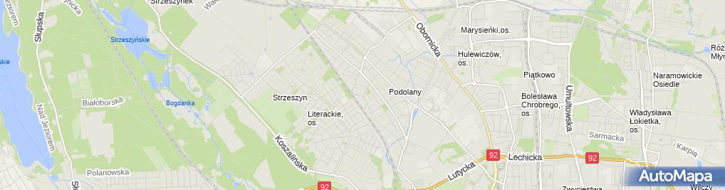 Zdjęcie satelitarne MB Pocieszenia