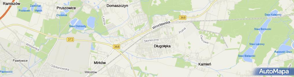 Zdjęcie satelitarne Zespół Szkolno-Przedszkolny im. Jana Pawła II w Długołęce
