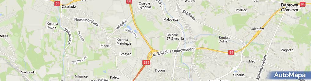 Zdjęcie satelitarne Wojewódzki Szpital Specjalistyczny nr 5 im. Św. Barbary