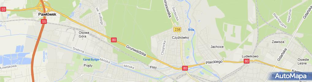Zdjęcie satelitarne Urząd Celny w Bydgoszczy