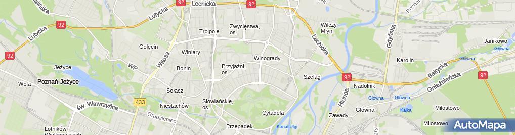 Zdjęcie satelitarne Wydział Komunikacji