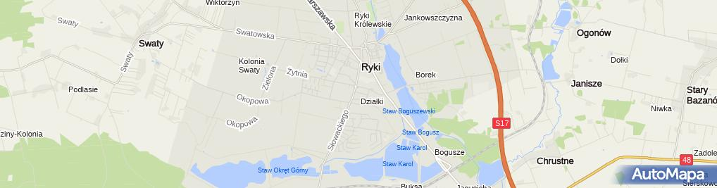 Zdjęcie satelitarne Zakład Wulkanizacyjny - Niburski Mirosław