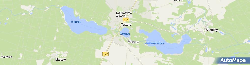 Zdjęcie satelitarne Jezioro Zamkowe (Tuczno)