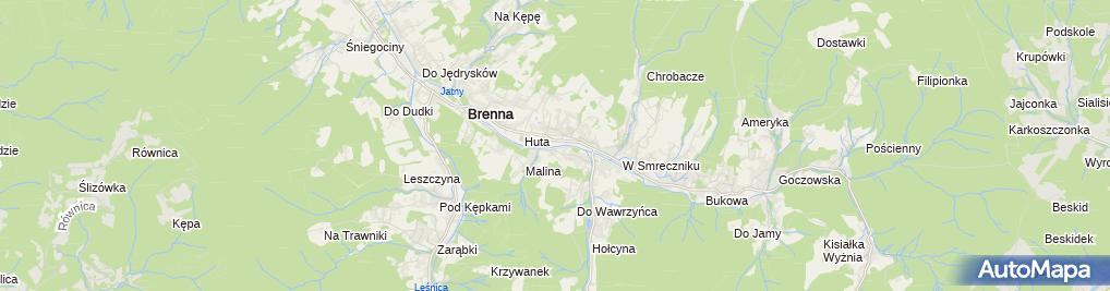 Zdjęcie satelitarne Brenna John the Baptist Church in profile 2005