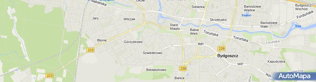 Zdjęcie satelitarne Bydgoszcz Kościół MBNP korpus 2