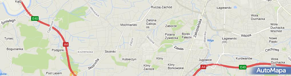 Zdjęcie satelitarne Kościół Matki Bożej Królowej Polski w Krakowie (ul.Kobierzyńska)