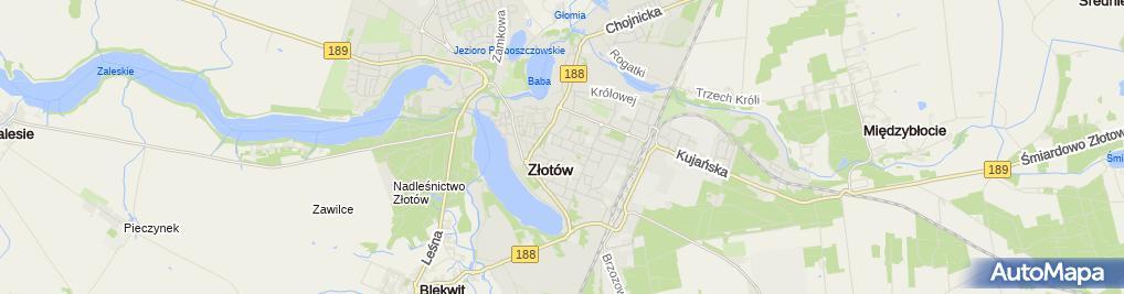 Zdjęcie satelitarne Kościół p. w. Wnieb. NMP w Złotowie